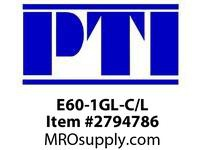 PTI E60-1GL-C/L ANSI STRAIGHT SIDEPLATE C/L RC1- ROLLER CHAIN METRIC/INCH
