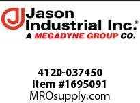 Jason 4120-037450 COUPLED RUBBER AIR 3/8in. X 50ft 1/4 M X M NPT