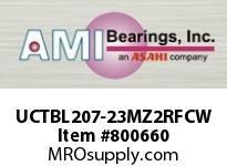 AMI UCTBL207-23MZ2RFCW 1-7/16 ZINC SET SCREW RF WHITE TB P COV SINGLE ROW BALL BEARING