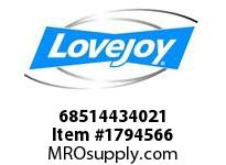LoveJoy 68514434021 SDS BUSHING 1-13/16 *1/2X1/16K
