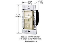 HBL-WDK S13W DIMMER 3 WAY SLIDE 1000W WH
