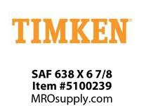 TIMKEN SAF 638 X 6 7/8 SRB Pillow Block Housing Only