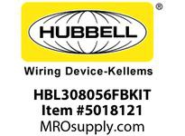 HBL_WDK HBL308056FBKIT BLACK FT POB WITH SEC100BA AND HBL3056
