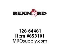 REXNORD 128-64481 ROLLER GUIDE ZP 2085MM ROLLER SIDE GUIDE 2085MM LONG WITH