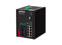 NT24K-12GXE4-SC-10 12-Port Gigabit Managed Industrial Ethernet Switch (8 10/100/1000BaseT 4 1000BaseLX singlemo