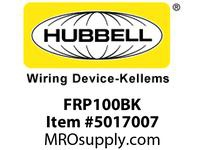 HBL_WDK FRP100BK 1^ TO 3/4^ REDUCING BUSHING BLACK