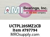 AMI UCTPL205MZ2CB 25MM ZINC WIDE SET SCREW BLACK TAKE COVERS SINGLE ROW BALL BEARING