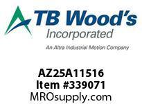 TBWOODS AZ25A11516 AZ25-AX1 15/16 FF COUP HUB
