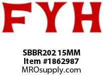 FYH SBBR202 15MM RUBBER MOUNTED PRESSED STEEL SETSCREW LOCKING