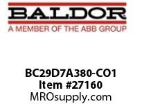 BALDOR BC29D7A380-CO1 30/460 VAC 243A DC/SCR CONT N1 ONE-WAY