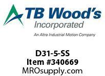 TBWOODS D31-5-SS FLEX DISC SS
