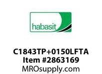 "Habasit C1843TP+0150LFTA 1843 Tab 1.5"" Top Plate Low Friction Acetal"