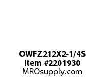 PTI OWFZ212X2-1/4S 2-BOLT PILOTED FLANGE BEARING-2-1/4 OWFZ 200 GOLD SERIES - NORMAL DUTY