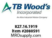 TBWOODS 827.16.1919 S-BEAM 16 3/16 --3/16