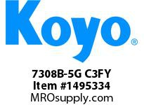Koyo Bearing 7308B-5G C3FY ANGULAR CONTACT BEARING