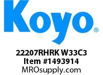 Koyo Bearing 22207RHRK W33C3 STEEL CAGE-SPHERICAL BEARING