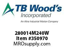 TBWOODS 280014M240W 2800-14M-240W POWERCH BELT