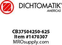 Dichtomatik CB37504250-625 SYMMETRICAL SEAL NITRILE CAPPED POLYURETHANE U-CUP INCH