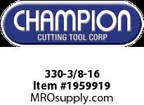 Champion 330-3/8-16 CARBON STEEL HEX DIES