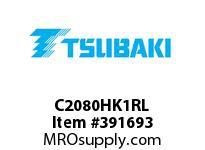 US Tsubaki C2080HK1RL C2080H K-1 ROLLER LINK