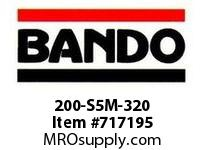 Bando 200-S5M-320 SYNCHRO-LINK STS TIMING BELT NUMBER OF TEETH: 64 WIDTH: 20 MILLIMETER