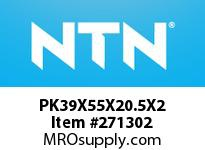 NTN PK39X55X20.5X2 N.R. & CAGE ASSY(SOLID CAGE)