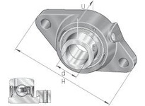 INA PCJT35N-FA125 Two-bolt flanged unit