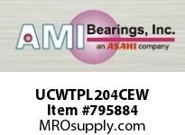 AMI UCWTPL204CEW 20MM WIDE SET SCREW WHITE TAKE-UP O SINGLE ROW BALL BEARING
