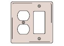 HBL-WDK NP826BK WALLPLATE 2-G 1) DUP 1) REC BK