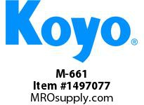 Koyo Bearing M-661 NEEDLE ROLLER BEARING DRAWN CUP FULL COMPLEMENT