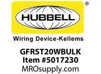HBL_WDK GFRST20WBULK 20A COM SELF TEST GFR WHITE BULK