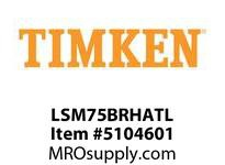 TIMKEN LSM75BRHATL Split CRB Housed Unit Assembly