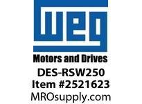 WEG DES-RSW250 DRIVE ENDSHIELD W254/6T Motores