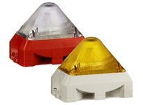 Pfannenberg 21555153055 PY X-MA-10 115V AC YE RAL7035 10 Joules Flashing Strobe Beacon with 8 Tone Sounder 100 dB (A)