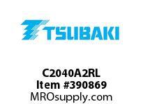 US Tsubaki C2040A2RL C2040 A-2 ROLLER LINK