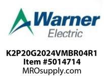 Warner Electric K2P20G2024VMBR04R1 WL001BB045JBAA0020 K2P2.0G20-24VM-BR-04R120