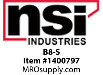 NSI B8-S #8 UNINSULATED BUTT CONNECTOR SMALL PK 6
