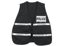 MCR ICV207 Poly Cotton Safety Vest 21 X 48 BLACK