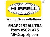 HBL_WDK SNAP2152ALLTRA SNAPCONNECT DECO 15A/125V LED TR AL