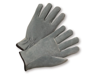 West Chester 980/S Select Grey Split Leather Drivers Glove Straight Thumb