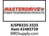 MasterDrive 6/SPB335-3535 6 GROOVE SPB SHEAVE