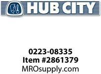 HUB CITY 0223-08335 520 GEAR WORM 50/1 (COMPOS-SLV) Service Part