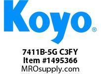 Koyo Bearing 7411B-5G C3FY ANGULAR CONTACT BEARING