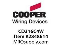 CPR-WDK CD316C4W Conn Pin&Sleeve 16A 110-120V 2P3W WT YL