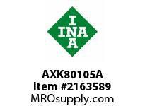 INA AXK80105A Thrust needle cage assembly