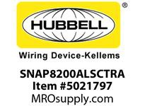 HBL_WDK SNAP8200ALSCTRA SNAP2CONNECT DPLX HG 15A/125V SC TR AL