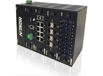 NT24K-DR24-DC Fully Managed Industrial Ethernet Switch; Modular DIN Rail Design with 3 expansion slots; redundant