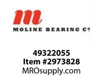 Moline Bearing 49322055 SPLIT E 1000 2-BOLT PILLOW BLOCK 55MM SPLIT E1000 2BPB NON-EXP W/CARTRG ASSY