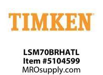 TIMKEN LSM70BRHATL Split CRB Housed Unit Assembly