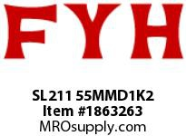 FYH SL211 55MMD1K2 PILLOW BLOCK-NORMAL DUTY SETSCREW LOCKING-HIGH TEMP CONTACT